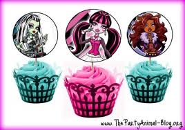 monster high 3 cupcakes